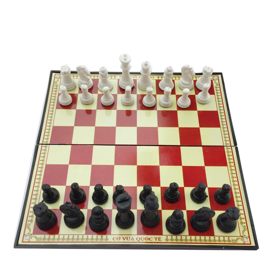 Bộ cờ vua nam châm 21cm x 21cm hộp đỏ