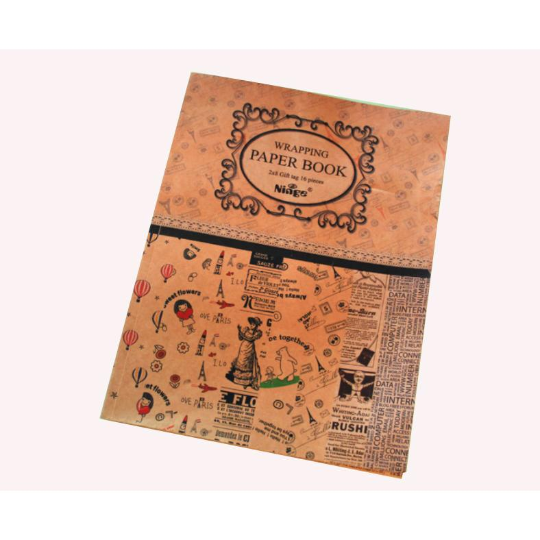 Tập giấy gói quà họa tiết vintage