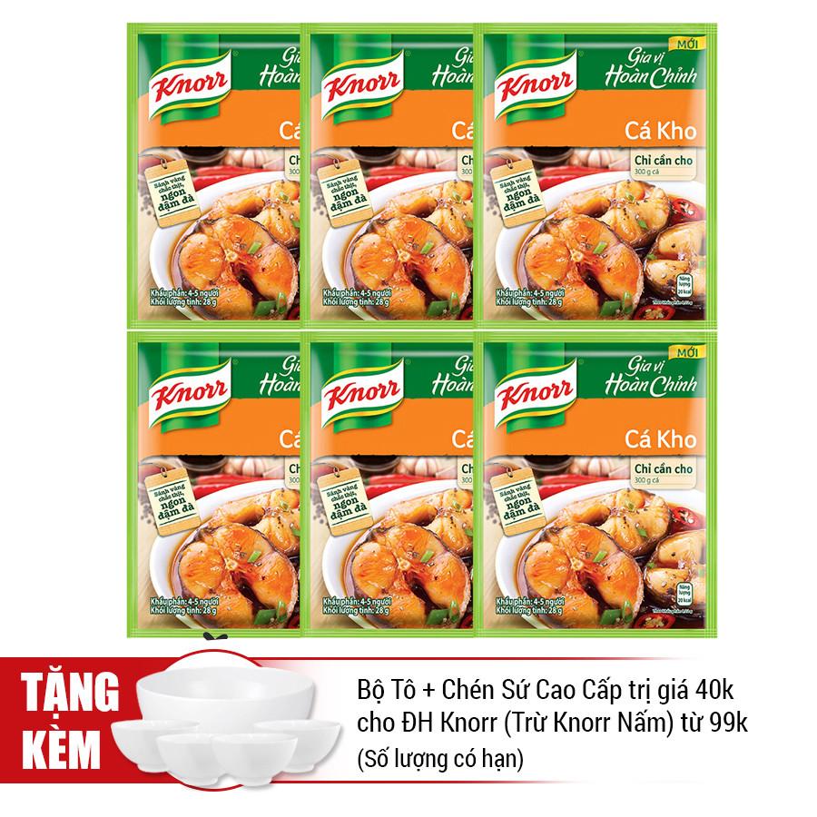 Combo 6 Gói Knorr Gia Vị Hoàn Chỉnh Cá Kho (28g) - 21006082