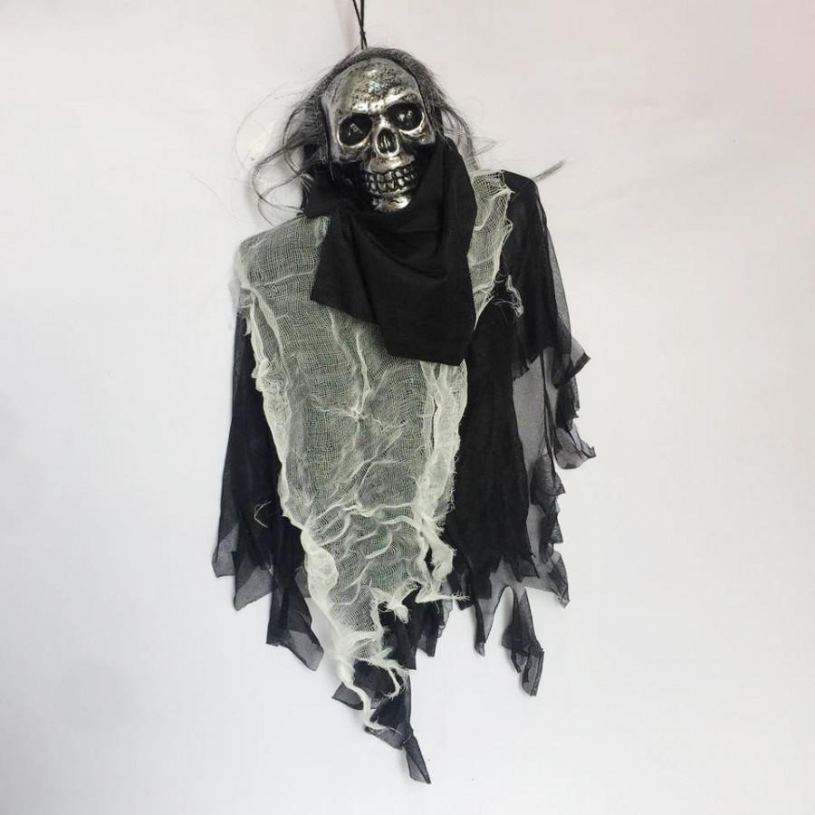 Ma treo có đèn mắt và tiếng kêu kinh dị trang trí Halloween