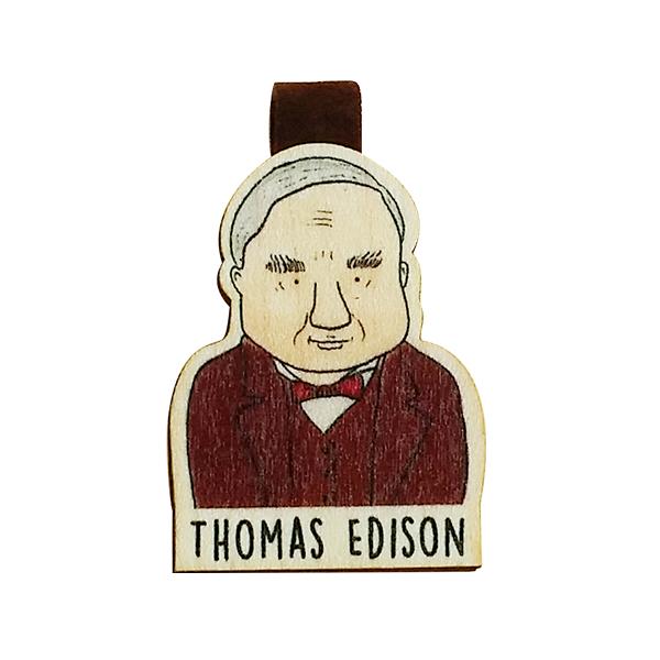 Bookmark gỗ nam châm Thomas Edison