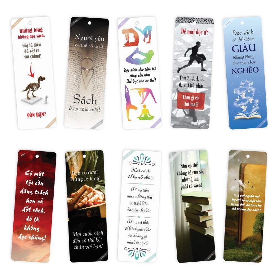 Bộ 10 Bookmark song ngữ truyền cảm hứng đọc sách FuSuSu