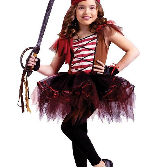 Trang phục cướp biến Halloween cho bé gái