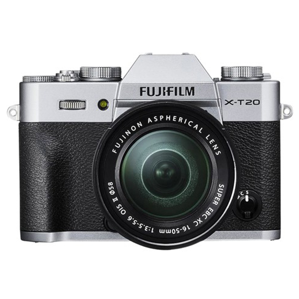 Máy Ảnh Fujifilm X-T20 Kit XC16-50mm f3.5-5.6 OIS (Bạc) + Thẻ Nhớ Sandisk 16GB Tốc Độ 48MB/s + Túi Đựng Máy Ảnh Fujifilm