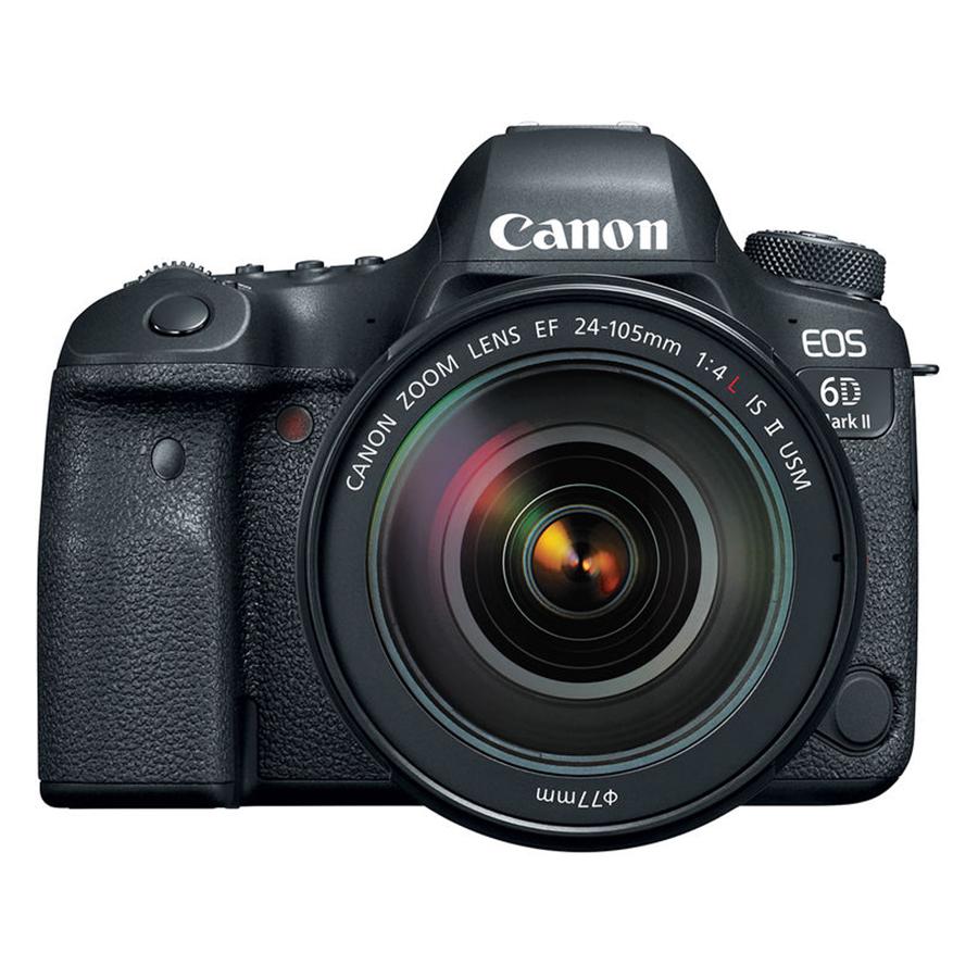 Máy Ảnh Canon 6D Mark II kit 24-105mm F4L IS II (Hàng chính hãng) - Tặng thẻ 32GB + túi máy + tấm dán LCD