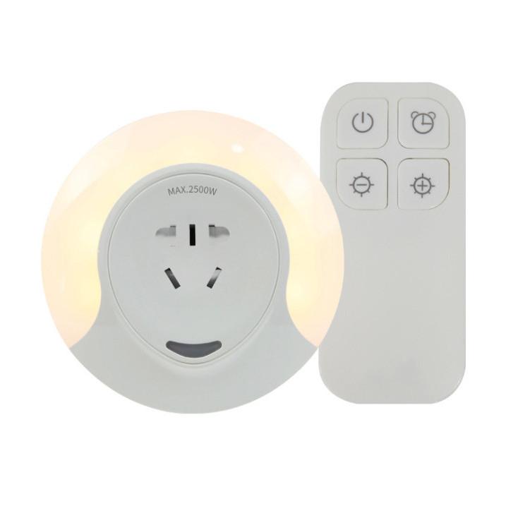 Đèn ngủ kiêm ổ điện điều khiển bằng remote hẹn giờ cao cấp CH009