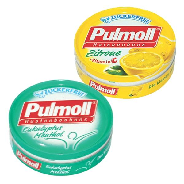 Combo 2 Hộp Kẹo Pulmoll Eukalyptus Menthol (50g) + Zintrone Vị Chanh (50g)