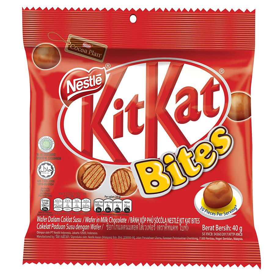 Bánh Chocolate KitKat Bites Gói 40g