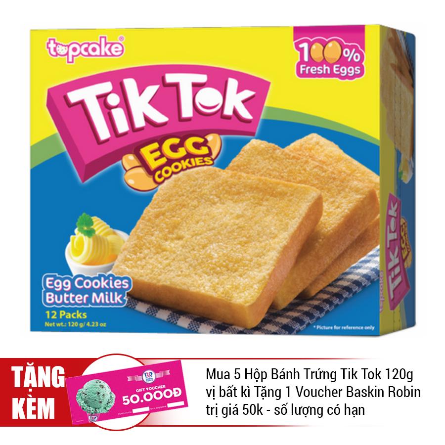 Bánh Trứng Tik-Tok Bơ Sữa (120g)