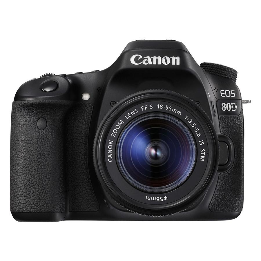 Máy Ảnh Canon EOS 80D Kit 18-55mm IS STM - Hàng Chính Hãng (Tặng Thẻ 16GB + Túi Máy + Tấm Dán LCD)