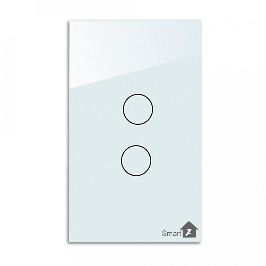 Công Tắc Cảm Ứng Thông Minh SmartZ SW100E-2 - Loại 2 nút công tắc