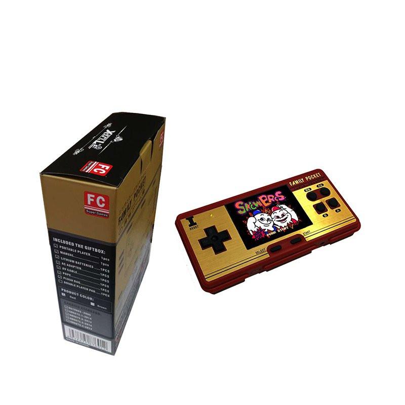 Máy chơi game cầm tay mini Promax Family Pocket FC NES màu đỏ và trắng cùng 638 trò chơi