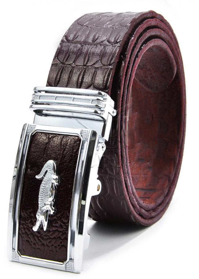 Thắt Lưng Da Bò Vân Cá Sấu AT Leather VCS - AT01 - Nâu