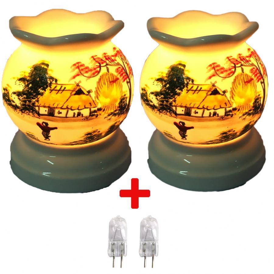 Combo 2 đèn xông tinh dầu MNB03 và 2 bóng đèn