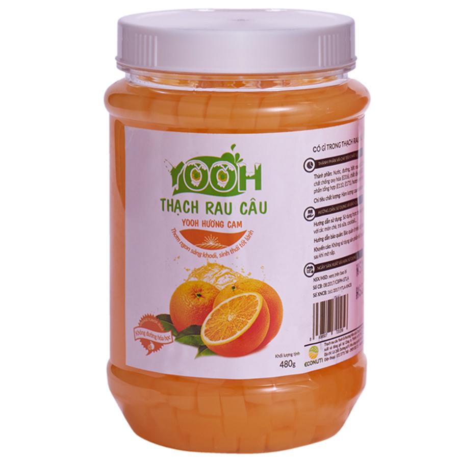 Thạch rau câu trà sữa YOOH - Vị Cam 480g