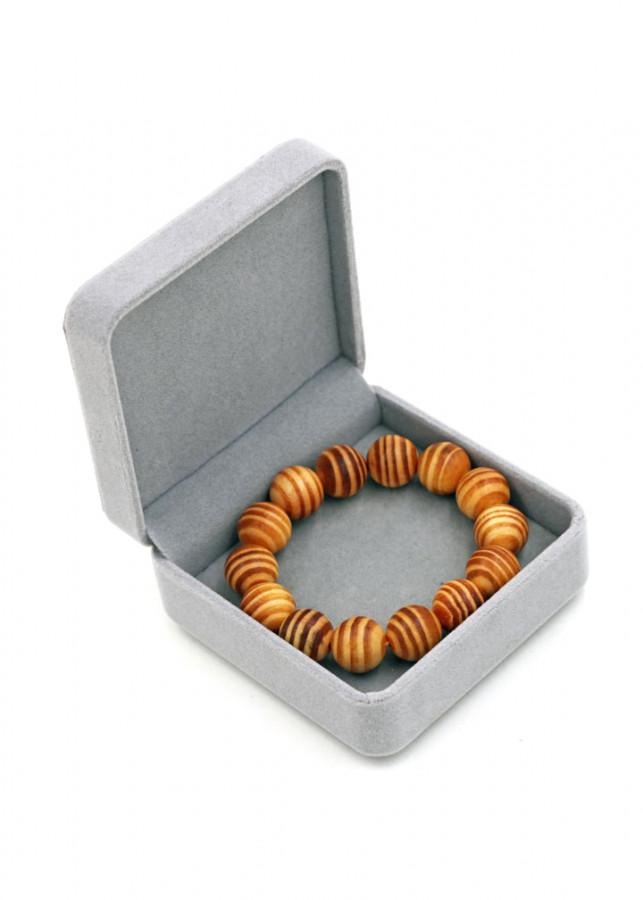 Vòng tay chuỗi hạt gỗ Huyết rồng 15 ly 14 hạt kèm hộp nhung