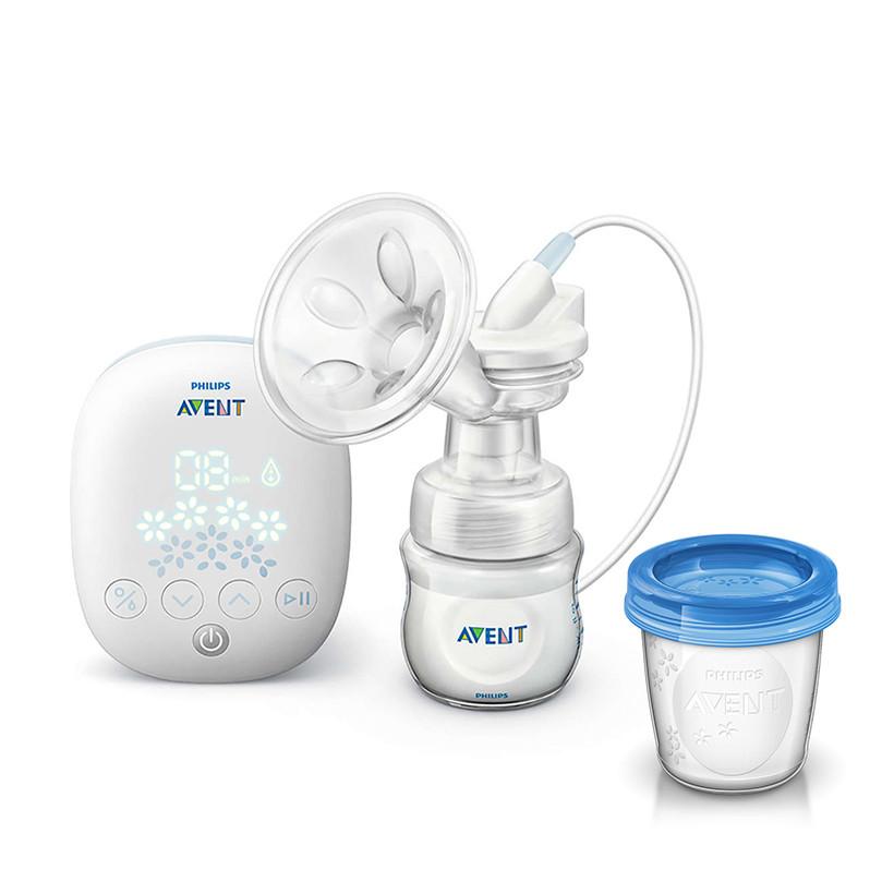 Máy hút sữa bằng điện đơn SCF301/01 Philips Avent Kèm Cốc trữ sữa SCF619/05