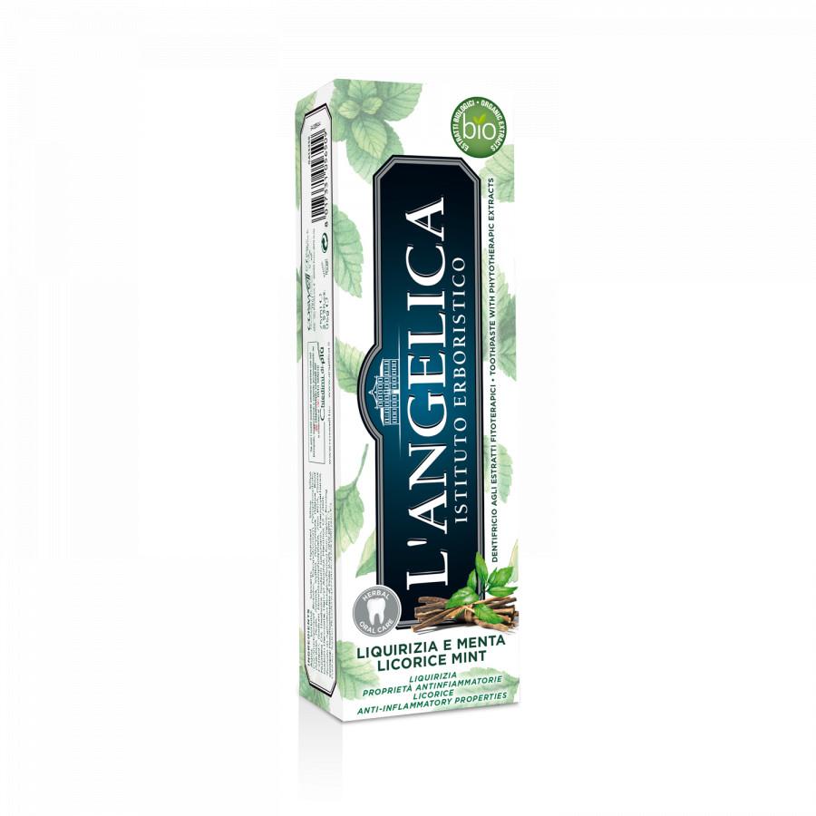 Kem Đánh Răng L'Angelica Toothpaste - Mint and Licorice - Bạc Hà và Cam Thảo