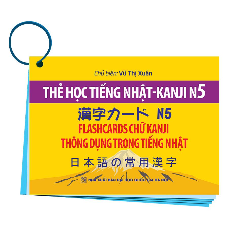 Thẻ Học Tiếng Nhật KANJI - N5