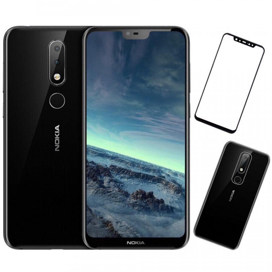 Bộ Điện thoại Nokia X6 (64GB/4GB) (Đen) + Dán cường lực 5D full màn (Đen) + Ốp lưng - Hàng nhập khẩu