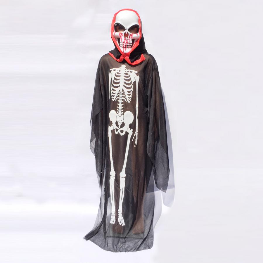 Bộ hóa trang ma xương kèm mặt nạ cho bé từ 6 tuổi trở lên