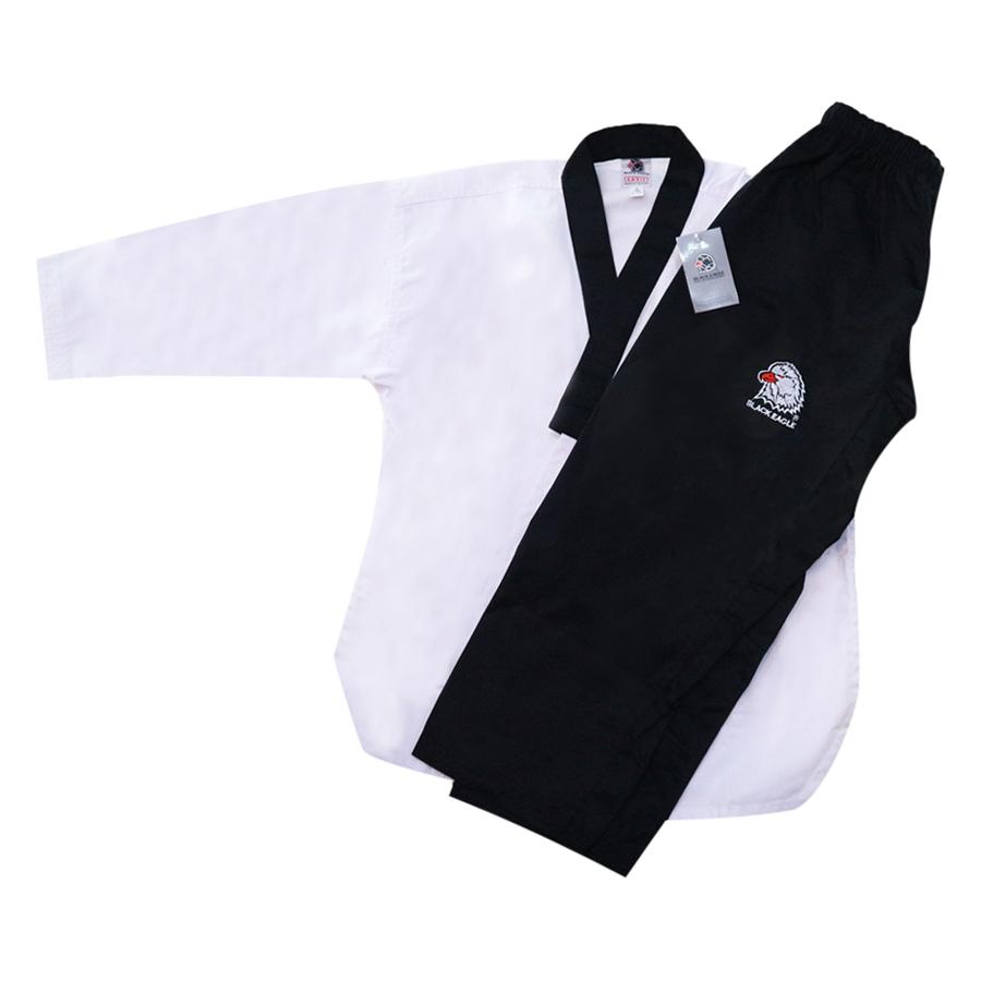 Võ Phục Taekwondo Quyền Cổ Đen Black Eagle Tân Việt DPVTTAEQCDBE180 (Size 180)