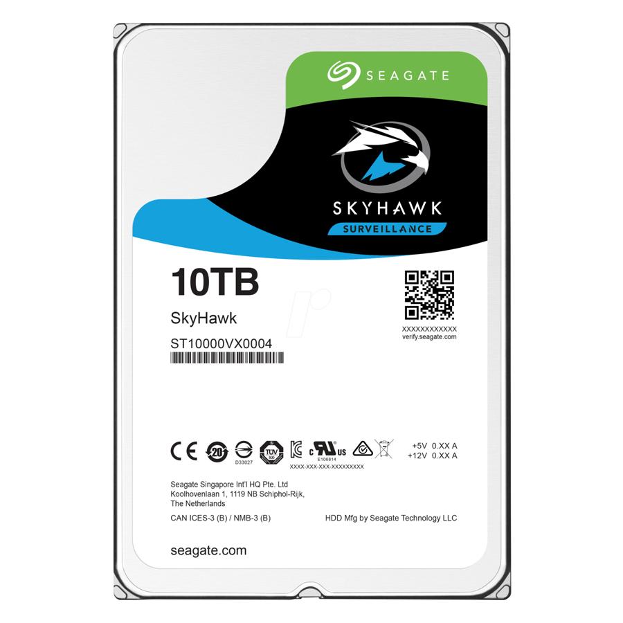 Ổ Cứng HDD Seagate SKYHAWK 10TB/3.5/256MB ST10000VX0004 - Hàng Chính Hãng