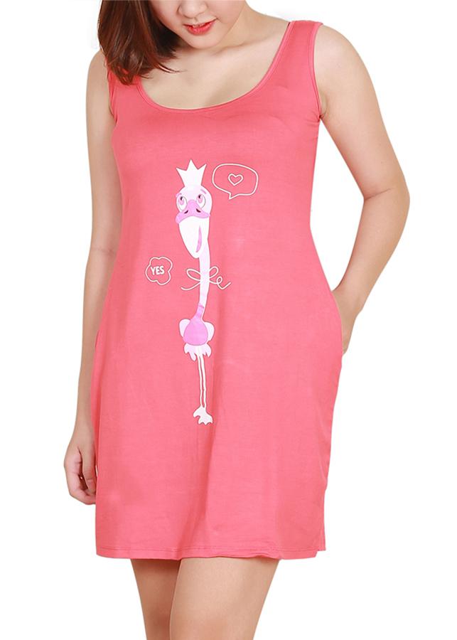 Đầm Ngủ Hồng Hạc Nutica NK0007 (Hồng Đậm)