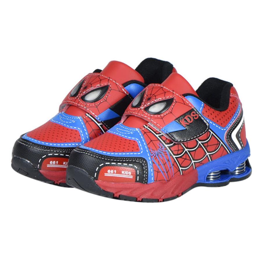 Giày Thể Thao Bé Trai Hình Người Nhện 3 - 12 Tuổi GA61 - Đỏ Xanh