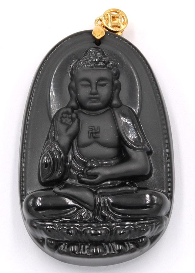 Mặt dây chuyền Phật bản mệnh A Di Đà 6cm