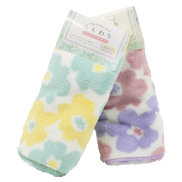 Combo 2  Khăn tắm Microfilber siêu mềm mịn mẫu hoa nội địa Nhật Bản - Giao màu ngẫu nhiên