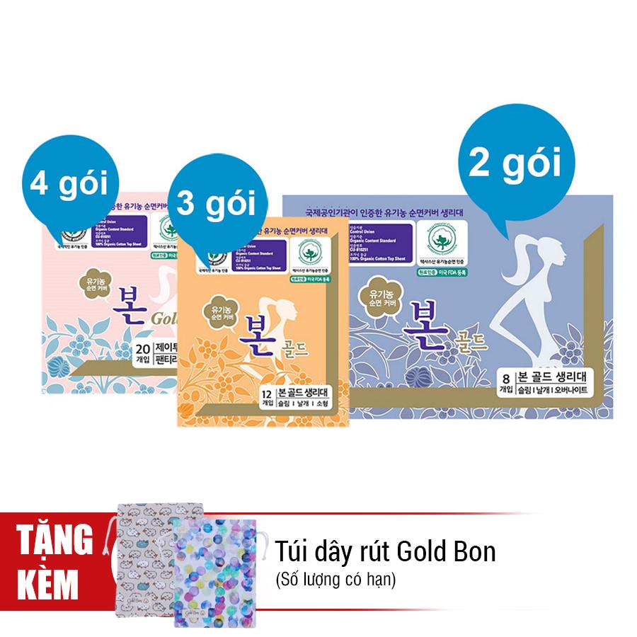 Combo 3 Tháng - Băng Vệ Sinh Hữu Cơ Gold Bon (9 Gói)