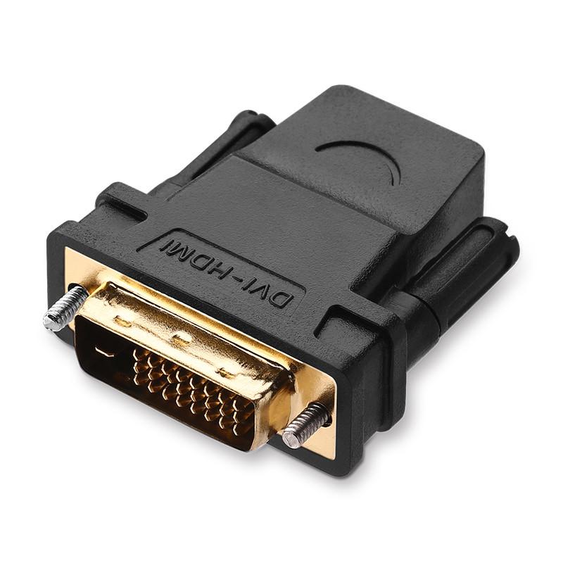 Đầu chuyển đổi DVI-D (24+1) cổng đực sang HDMI cổng cái UGREEN 20124 (màu đen)