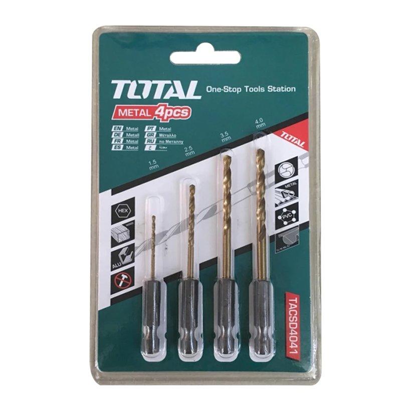 Bộ mũi khoan kim loại đuôi gài lục giác Total - TACSD4041