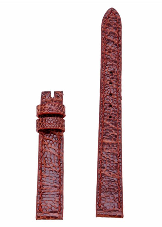 Dây Đồng Hồ Da Đà Điểu Size Nhỏ Huy Hoàng HT8423 - Nâu Đỏ