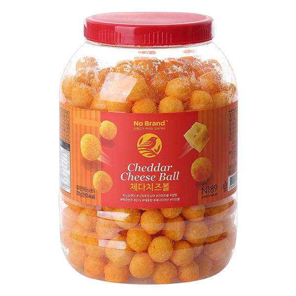 Snack Phô Mai Cheddar Ball No Brand 370g
