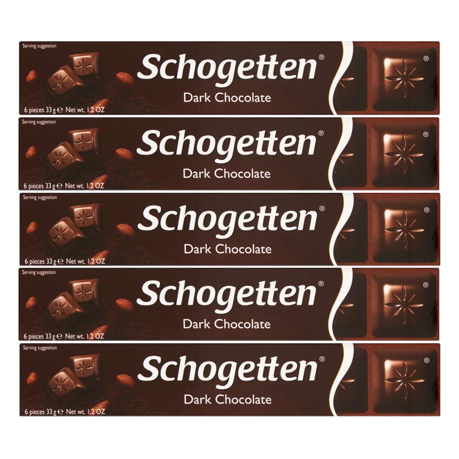 Combo 5 Thanh Sôcôla Ludwig Schokolade 3 Vị Schogetten Mini - Đắng (33g)