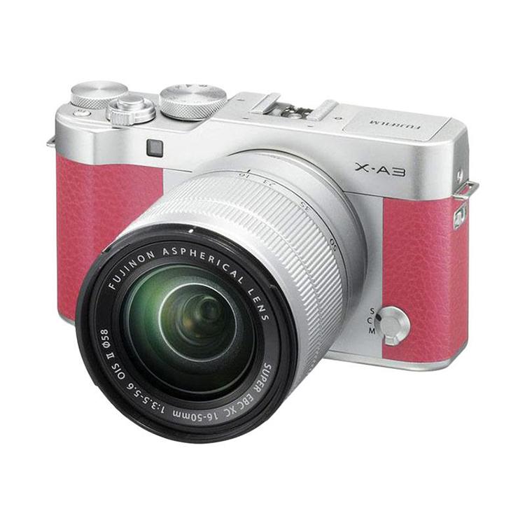 Máy Ảnh Fujifilm X-A3 Kit XC16-50mm f3.5-5.6 OIS (Hồng) + Thẻ Nhớ Sandisk 16GB Tốc Độ 48MB/s + Túi Đựng Máy Ảnh Fujifilm