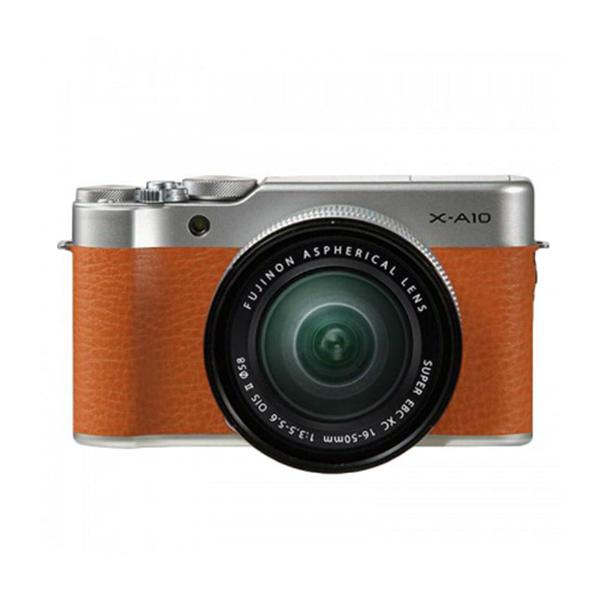 Máy Ảnh Fujifilm X-A10 Kit XC16-50mm f3.5-5.6 OIS (Nâu) + Thẻ Nhớ Sandisk 16GB Tốc Độ 48MB/s + Túi Đựng Máy Ảnh Fujifilm