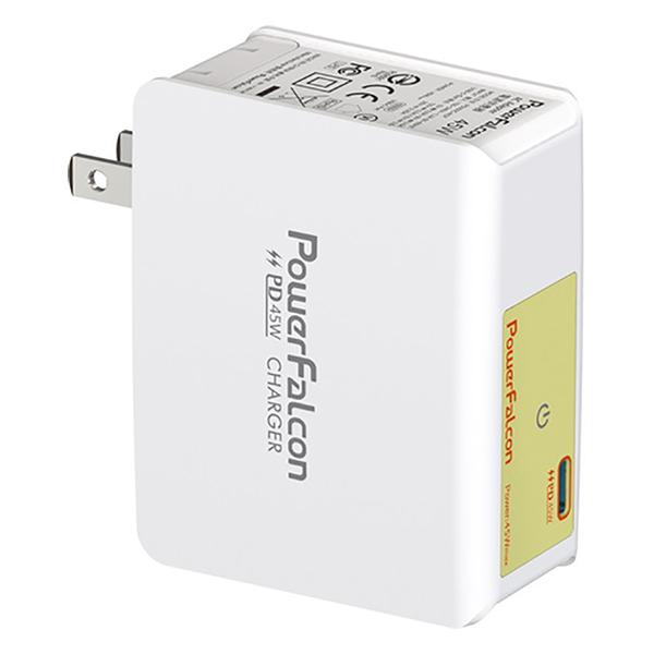 Cục Sạc Powerfalcon 45W PD Charger /Foldable