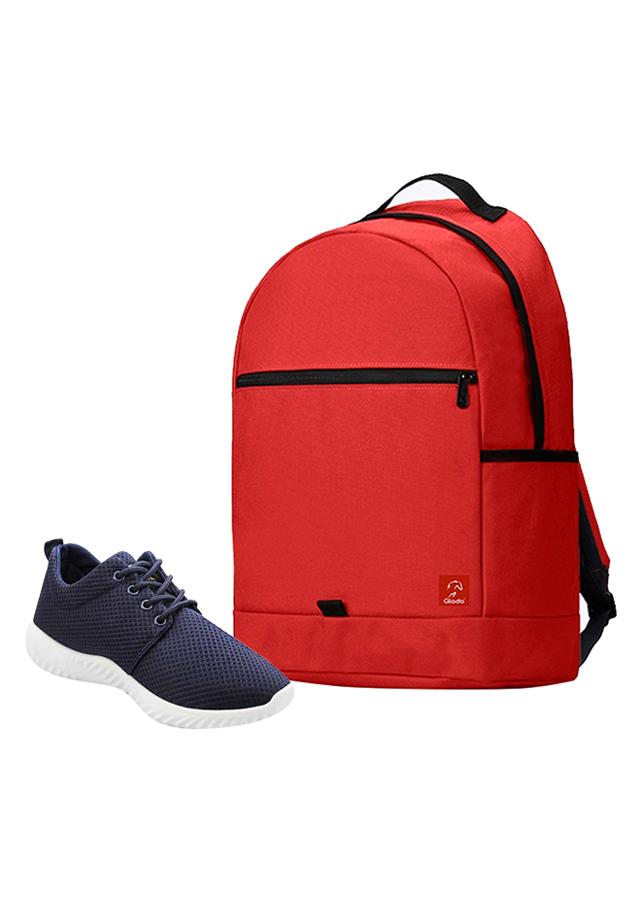 Combo Balo Glado Classical BLL006RE - Đỏ + Giày Sneaker GS062BU - Xanh Đen