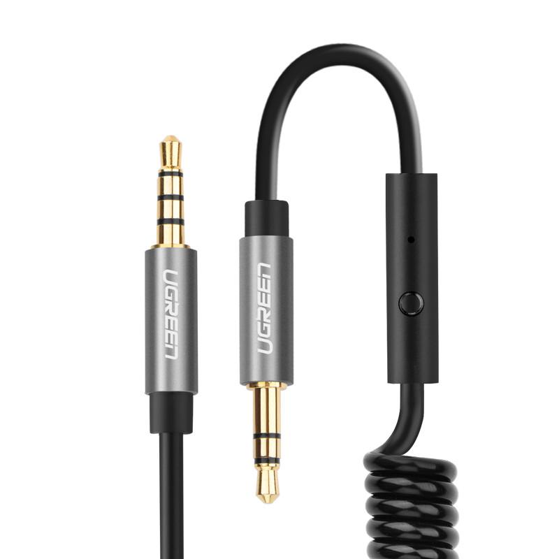Dây âm thanh 3.5mm dạng lò xo có MIC dài 2M UGREEN AV129 20705 - Hãng phân phối chính thức