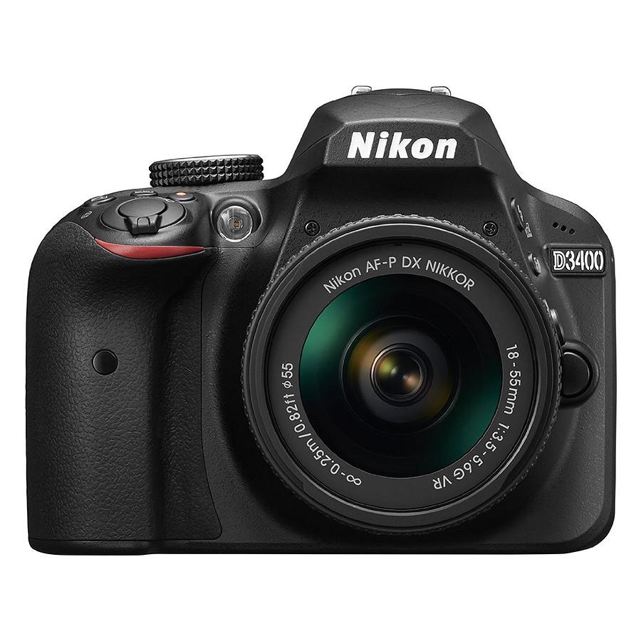 Máy Ảnh Nikon D3400 Kit 18 - 55mm VR II (24.2 MP) (Hàng Chính Hãng) - Tặng Thẻ 16G + Túi Máy + Tấm Dán LCD