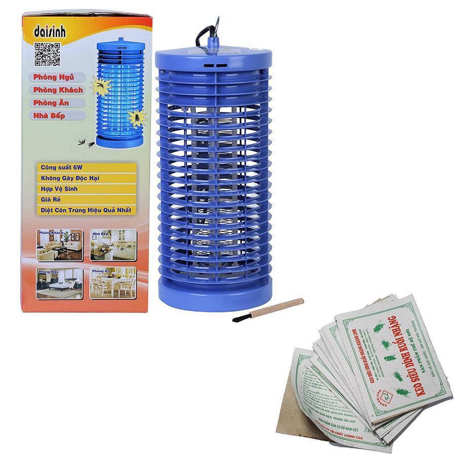 Bộ Đèn diệt côn trùng DS-D6 và 10 miếng keo dính ruồi KL10