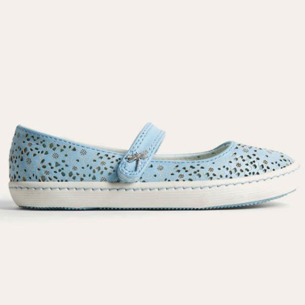 Giày Búp Bê Bé Gái DA Urban UG1701 - Xanh Da Trời