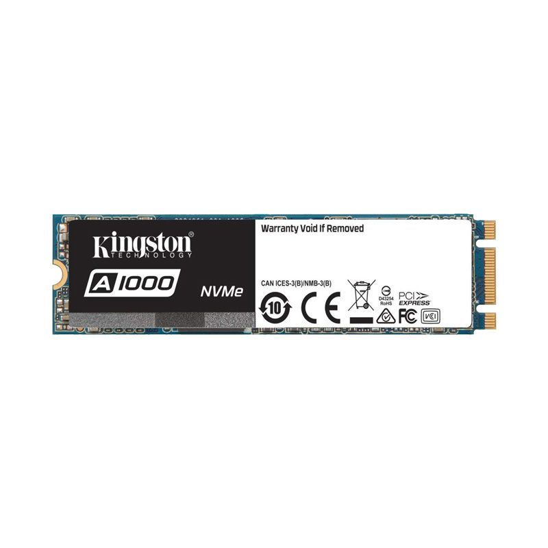 Ổ cứng SSD Kingston A1000 PCIe Gen3 x2 NVMe M.2 480GB SA1000M8/480G- Hãng Chính Hãng