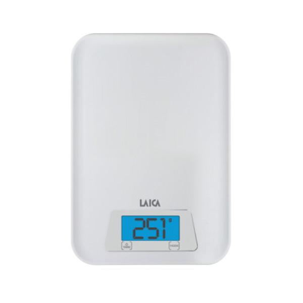 Cân dinh dưỡng nhà bếp đo Trọng lượng và Thể tích nước - LAICA KS1023 - Trắng ITALY