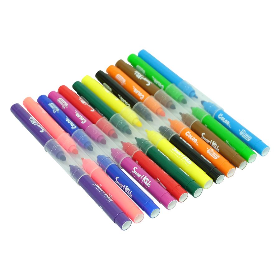 Hộp 12 Bút Lông Màu Rửa Được Smartkids SK-CPT2003
