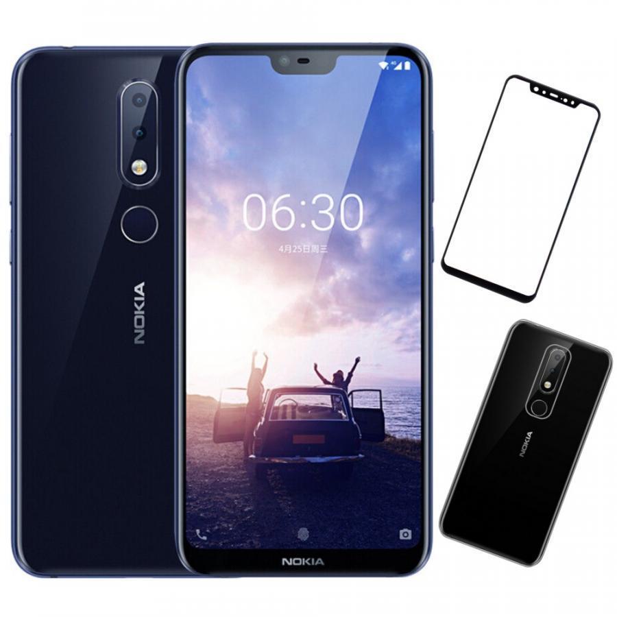 Bộ Điện thoại Nokia X6 (64GB/4GB) (Xanh) + Dán cường lực 5D full màn (Đen) + Ốp lưng - Hàng nhập khẩu
