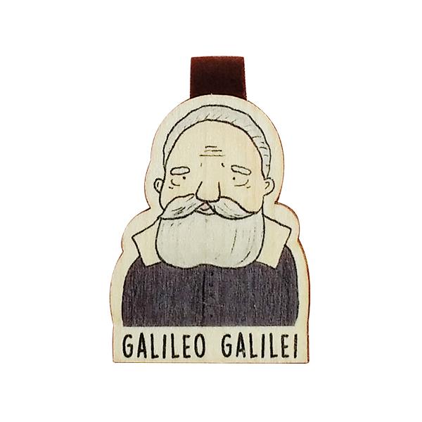 Bookmark gỗ nam châm Galileo Galilei